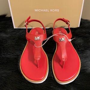 Michael Kors Brady Thong Red Sandals